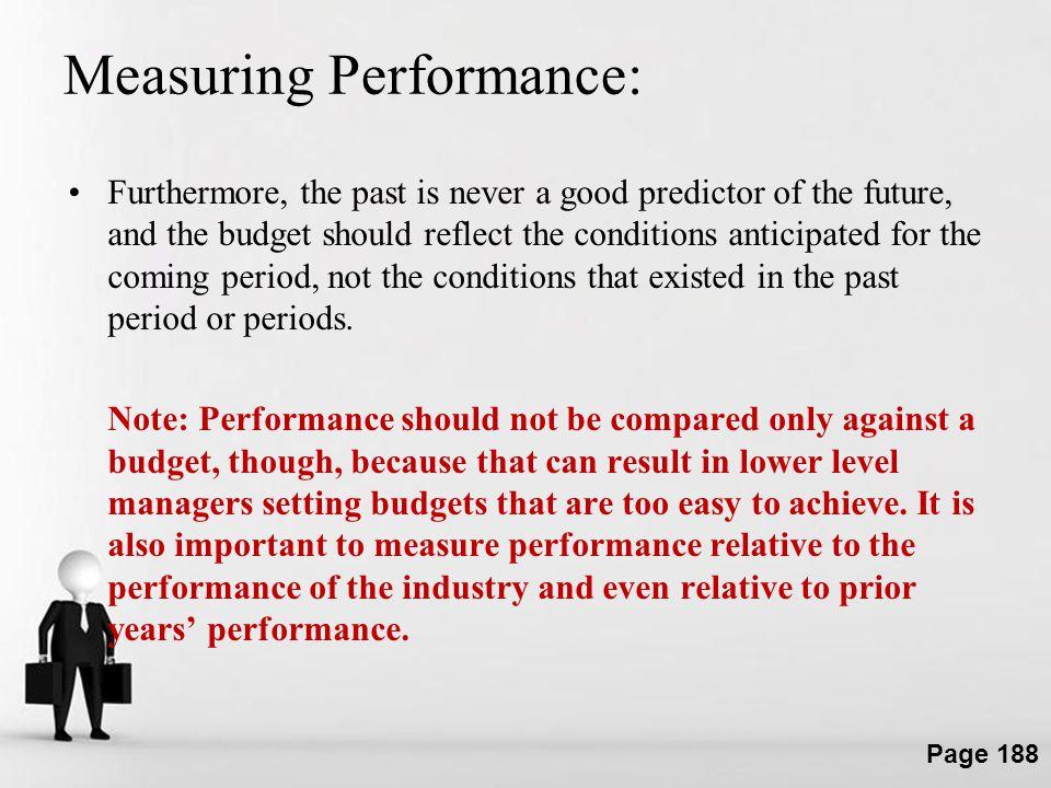 Measuring Performance: