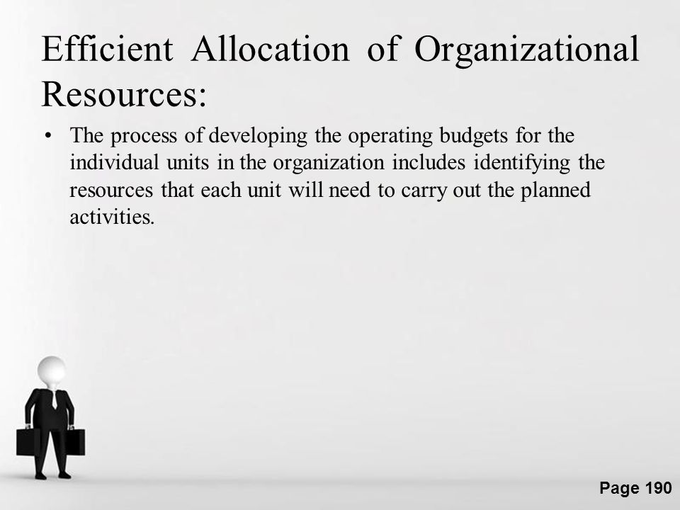 Efficient Allocation of Organizational Resources: