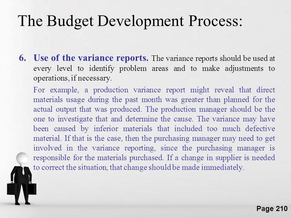 The Budget Development Process: