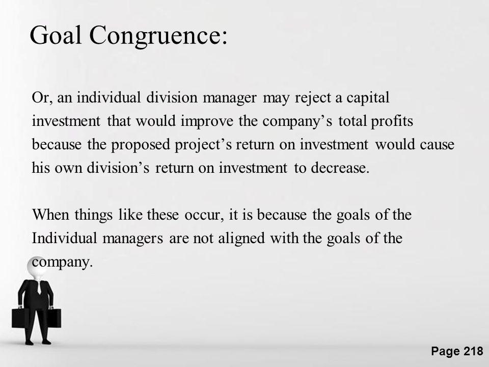 Goal Congruence:
