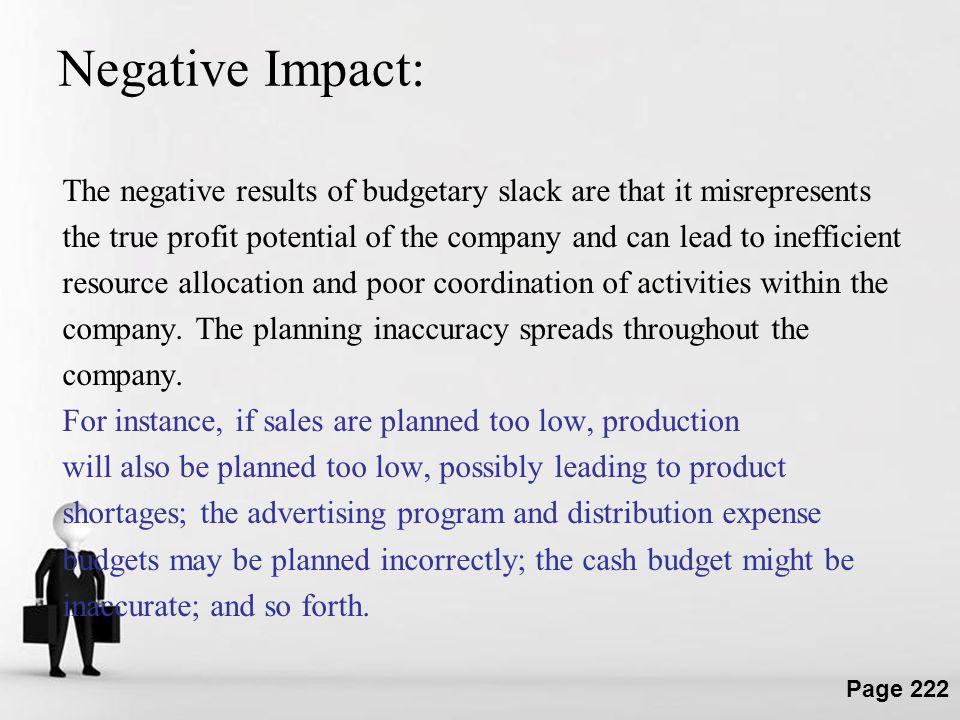 Negative Impact: