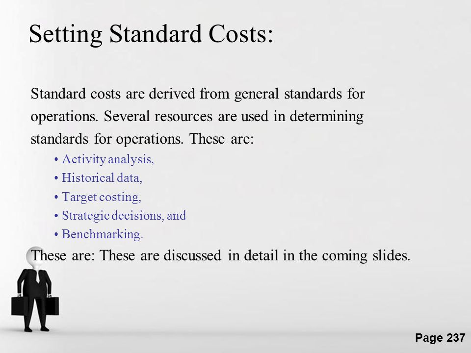 Setting Standard Costs: