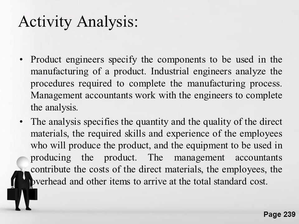 Activity Analysis: