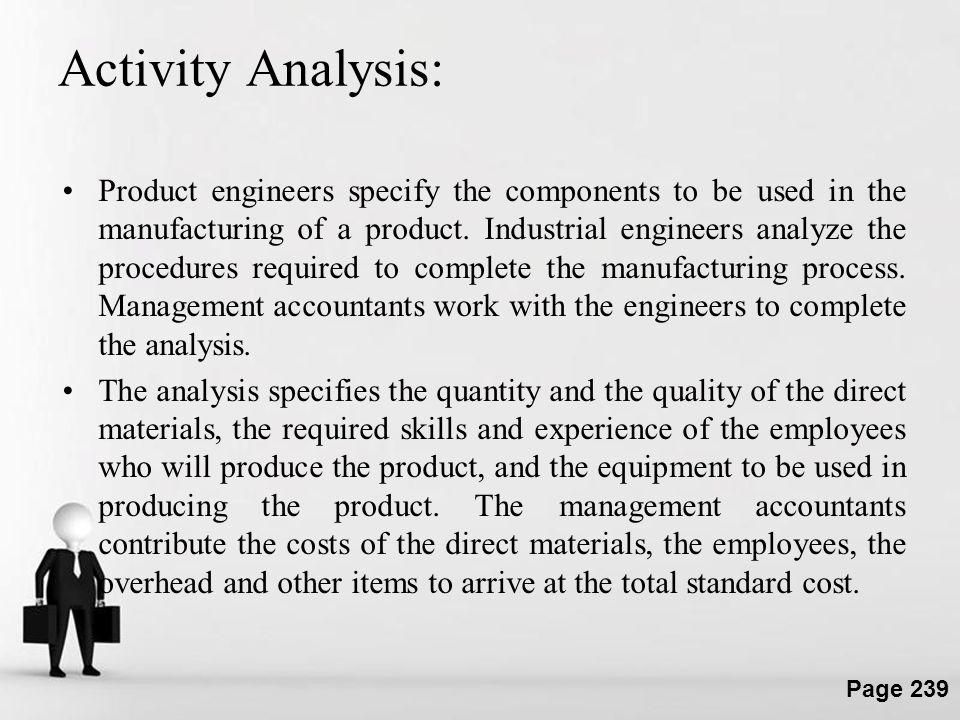 Activity Analysis: