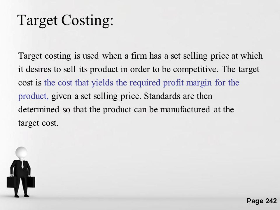 Target Costing: