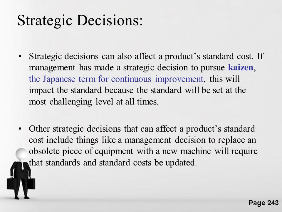Strategic Decisions: