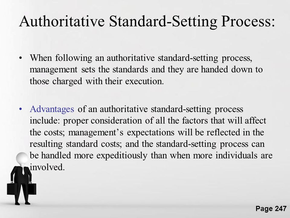 Authoritative Standard-Setting Process: