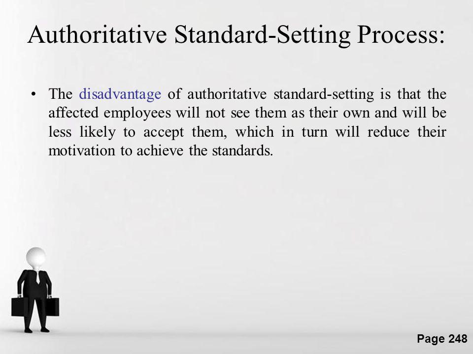Authoritative Standard-Setting Process: