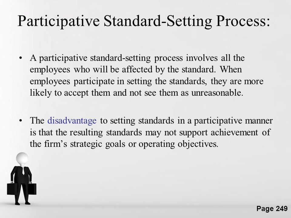 Participative Standard-Setting Process: