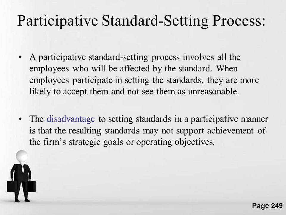 Participative Standard-Setting Process: