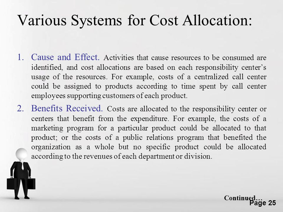 Various Systems for Cost Allocation: