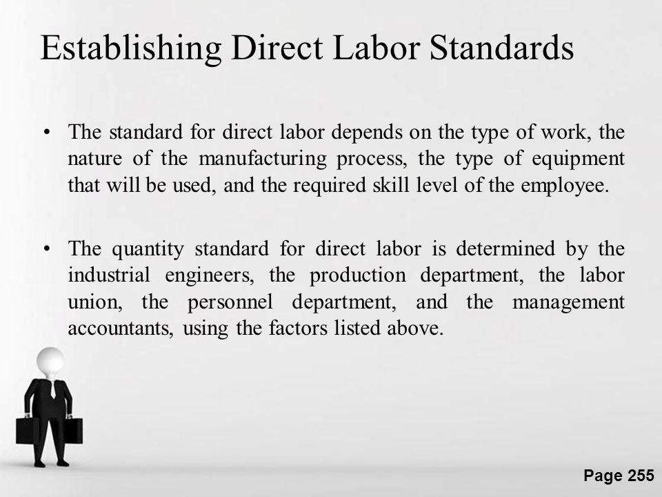 Establishing Direct Labor Standards