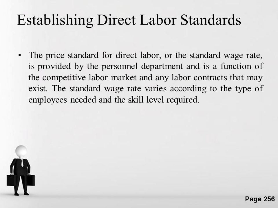 Establishing Direct Labor Standards