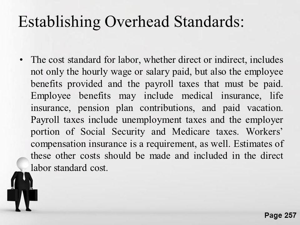 Establishing Overhead Standards: