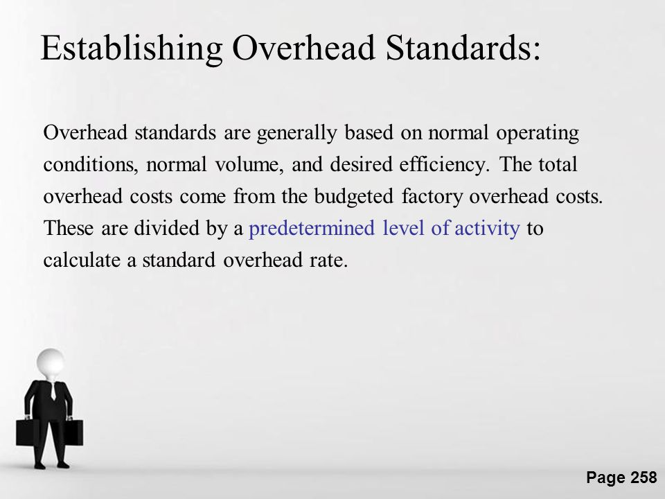 Establishing Overhead Standards: