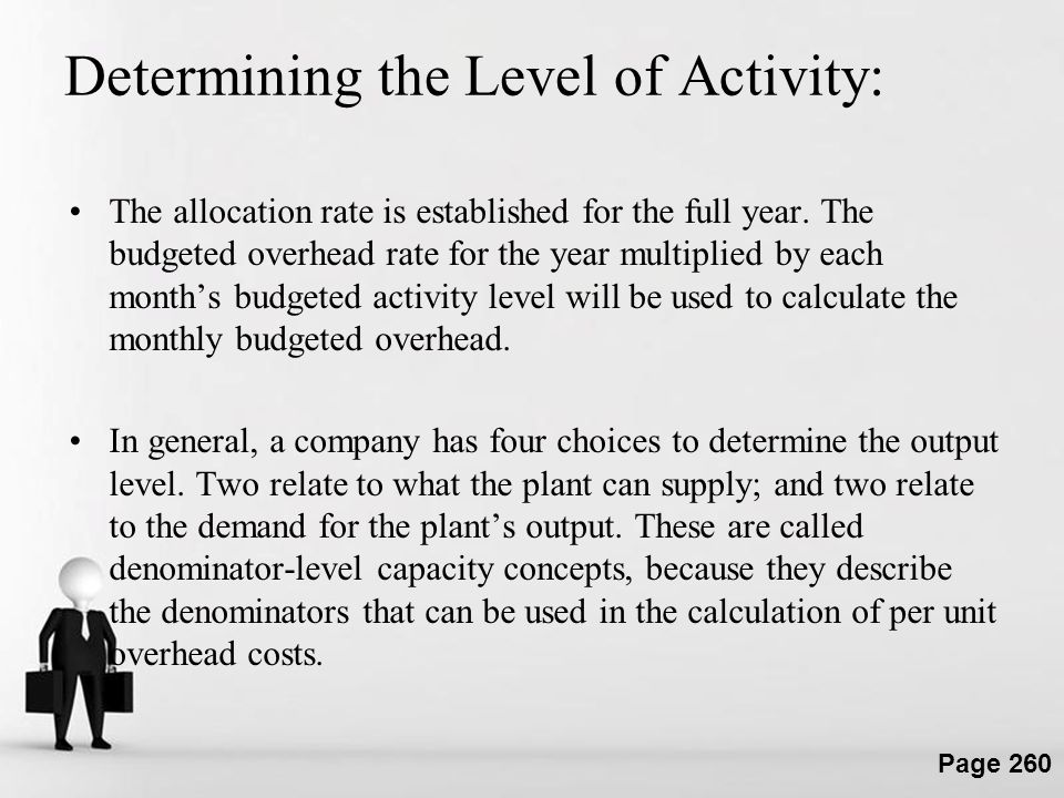 Determining the Level of Activity: