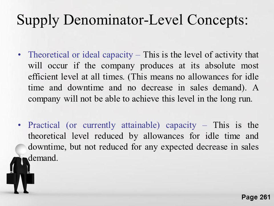 Supply Denominator-Level Concepts: