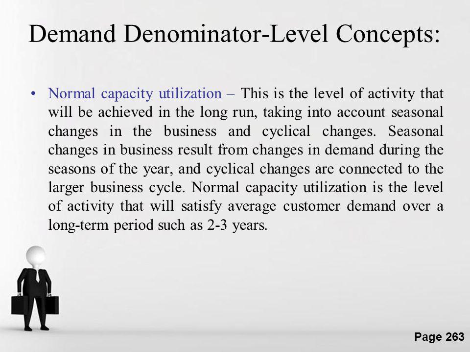 Demand Denominator-Level Concepts: