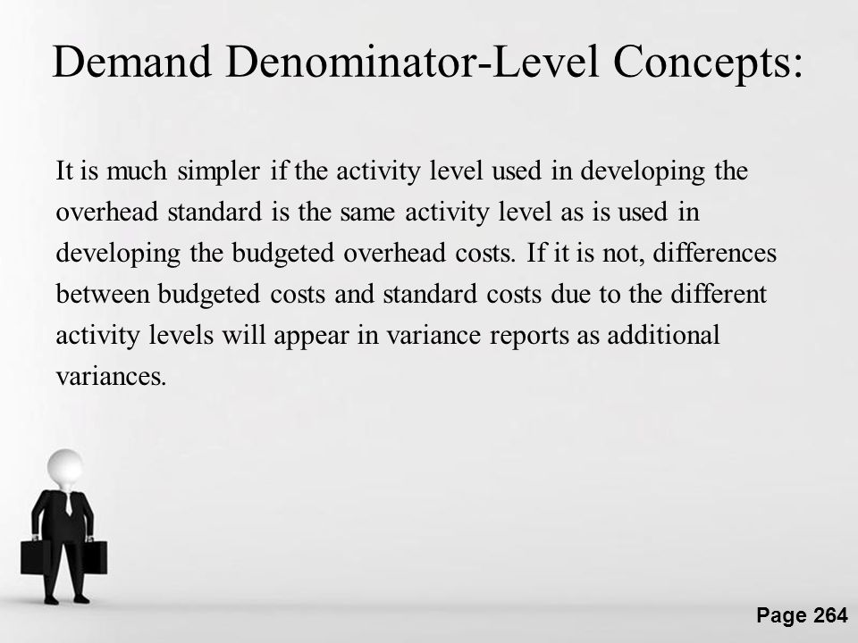 Demand Denominator-Level Concepts: