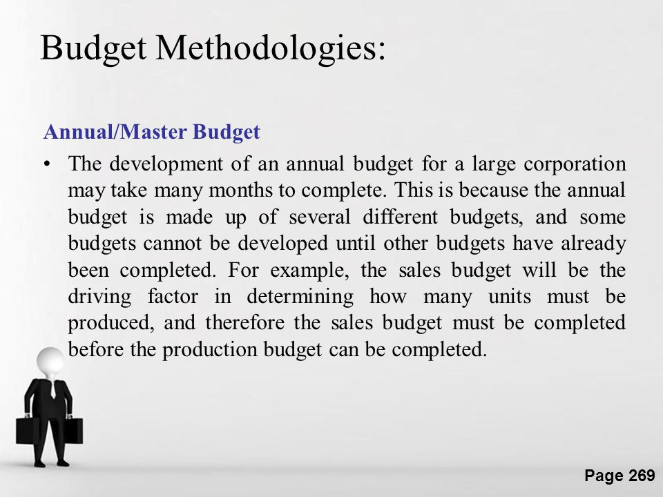 Budget Methodologies: