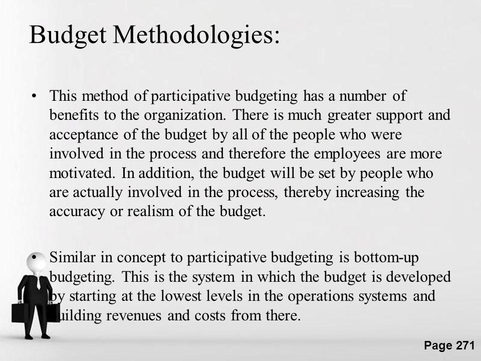 Budget Methodologies:
