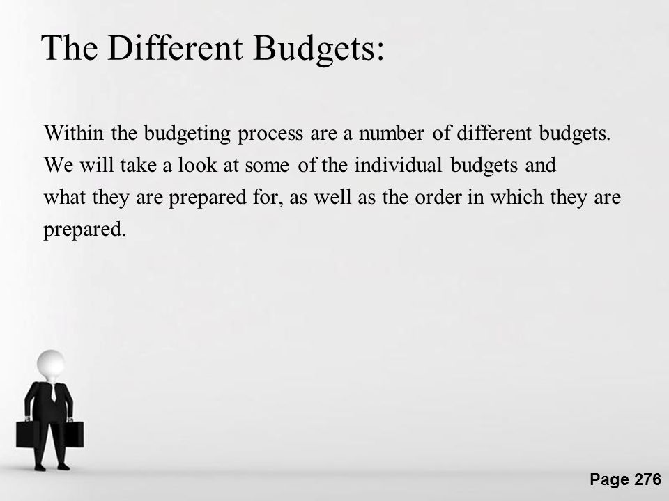 The Different Budgets: