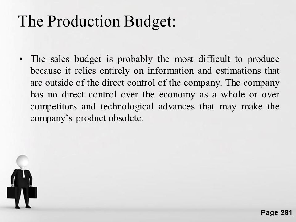 The Production Budget: