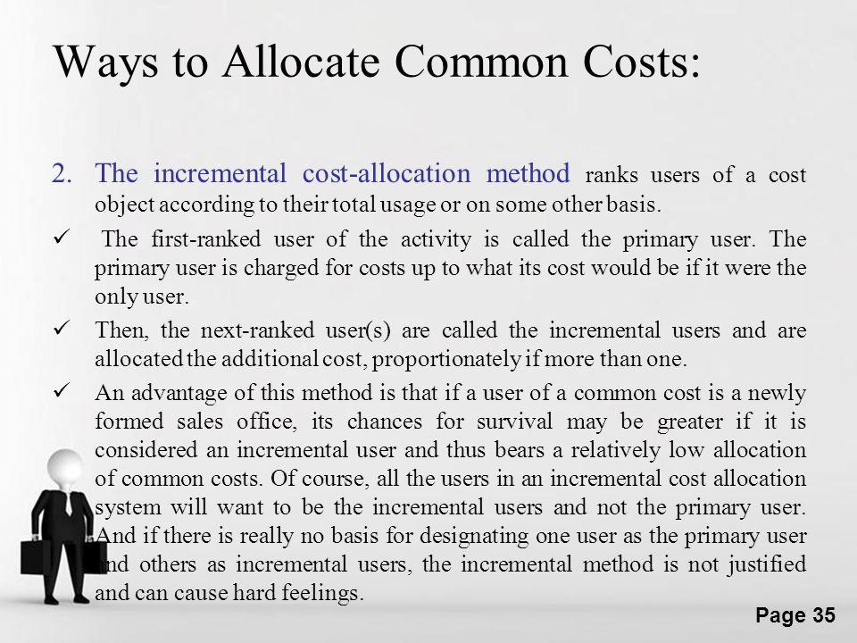 Ways to Allocate Common Costs: