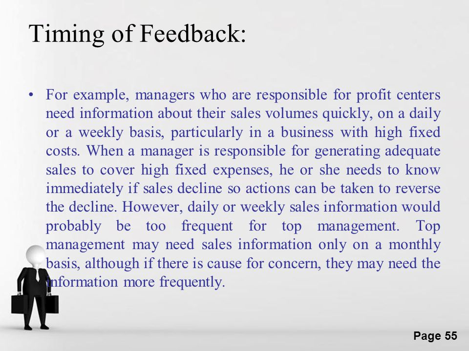 Timing of Feedback: