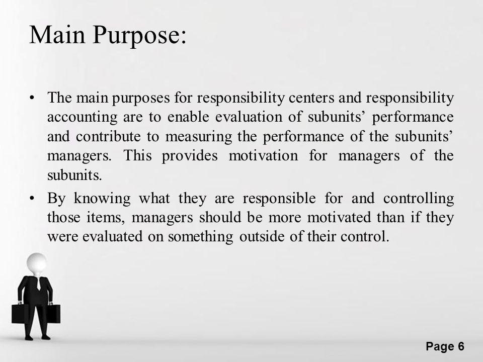 Main Purpose: