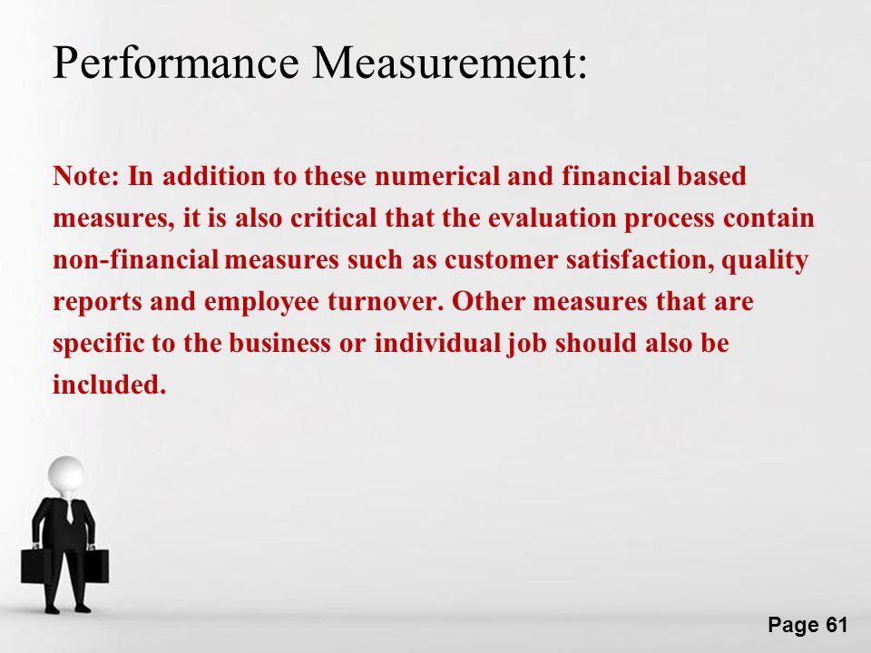 Performance Measurement: