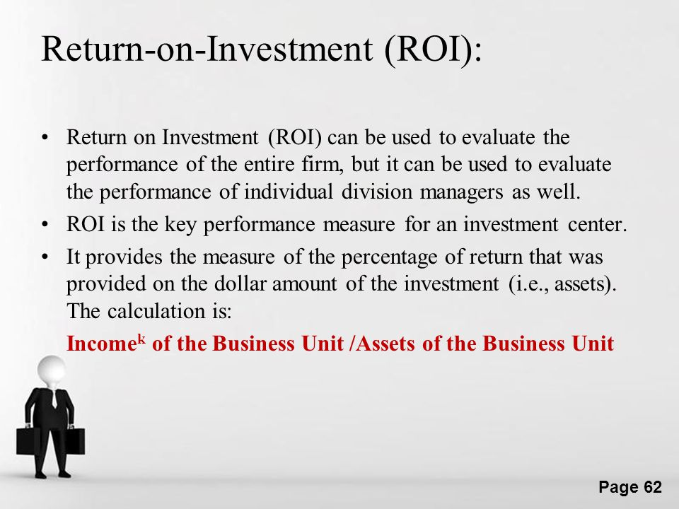 Return-on-Investment (ROI):