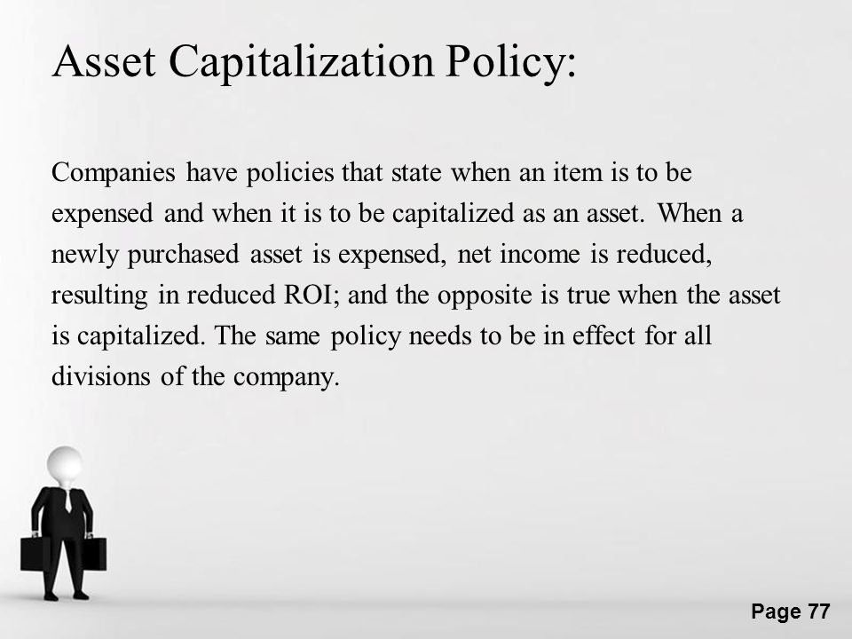Asset Capitalization Policy: