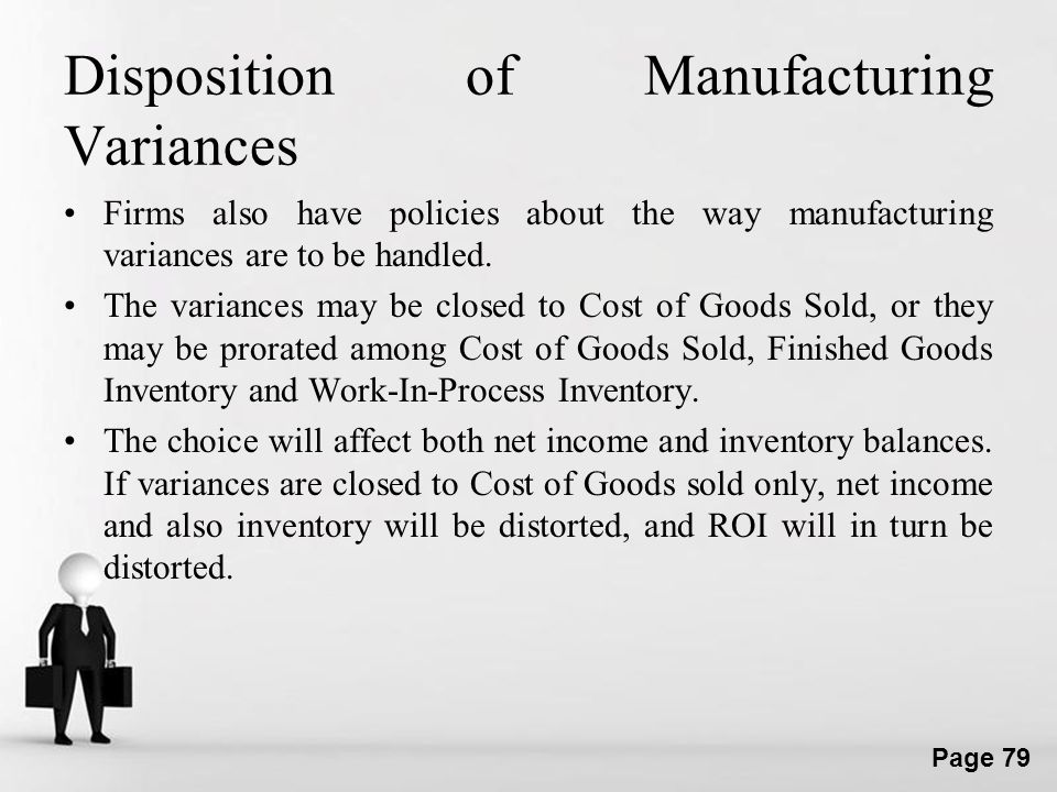 Disposition of Manufacturing Variances