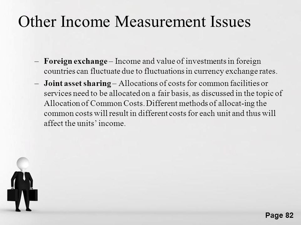 Other Income Measurement Issues
