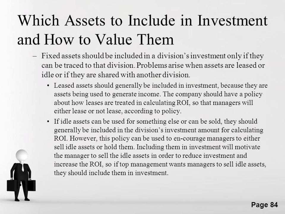 Which Assets to Include in Investment and How to Value Them