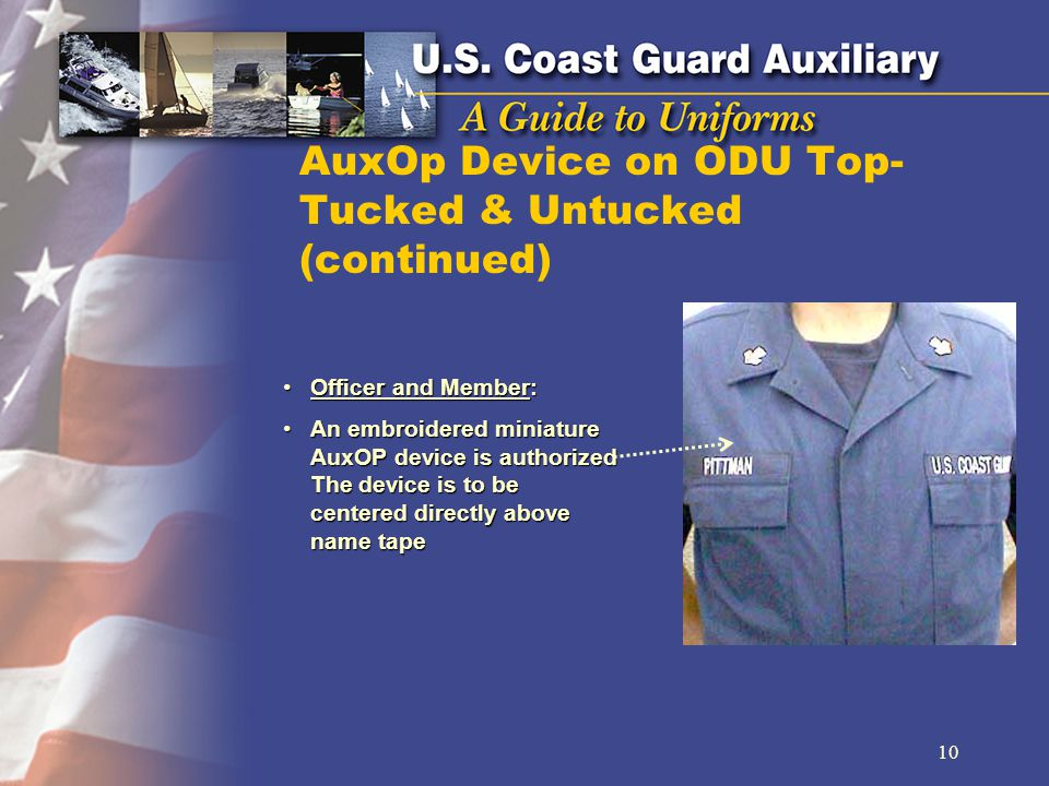 AuxOp Device on ODU Top- Tucked & Untucked (continued)