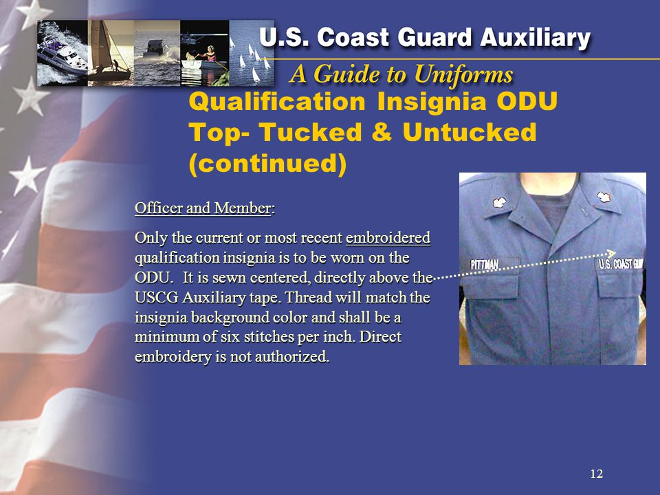 Qualification Insignia ODU Top- Tucked & Untucked (continued)