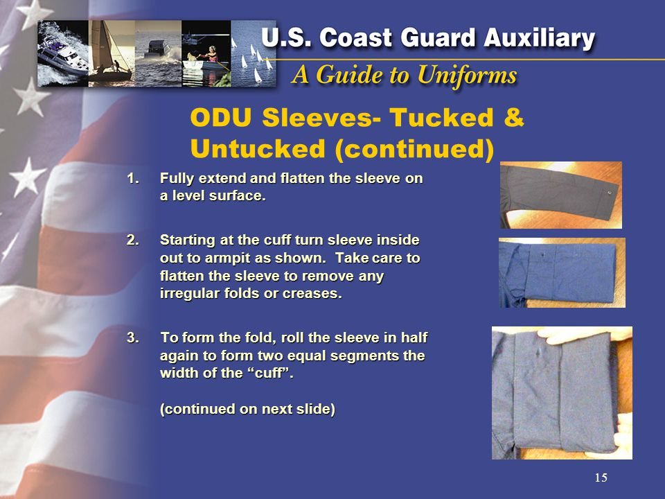 ODU Sleeves- Tucked & Untucked (continued)