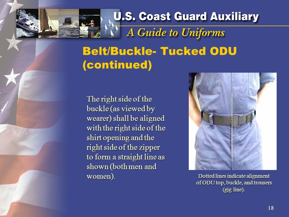 Belt/Buckle- Tucked ODU (continued)