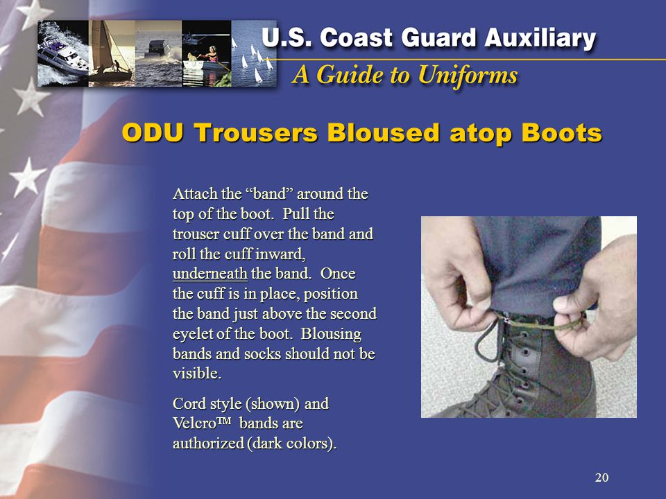 ODU Trousers Bloused atop Boots