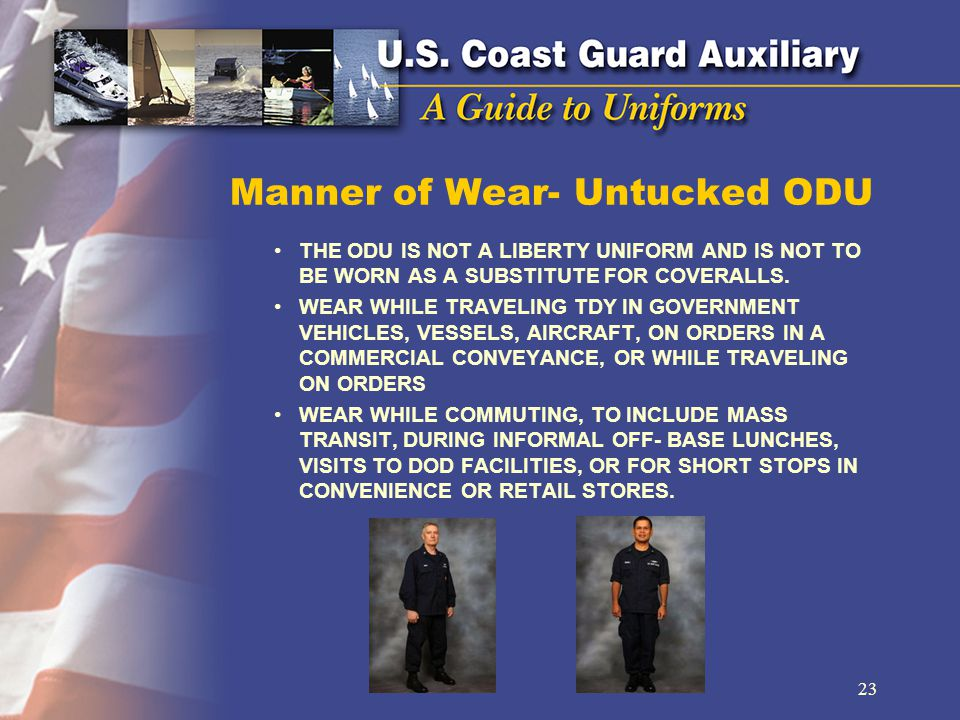 Manner of Wear- Untucked ODU