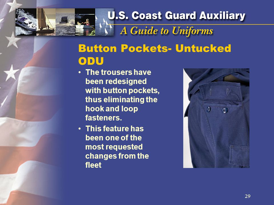 Button Pockets- Untucked ODU