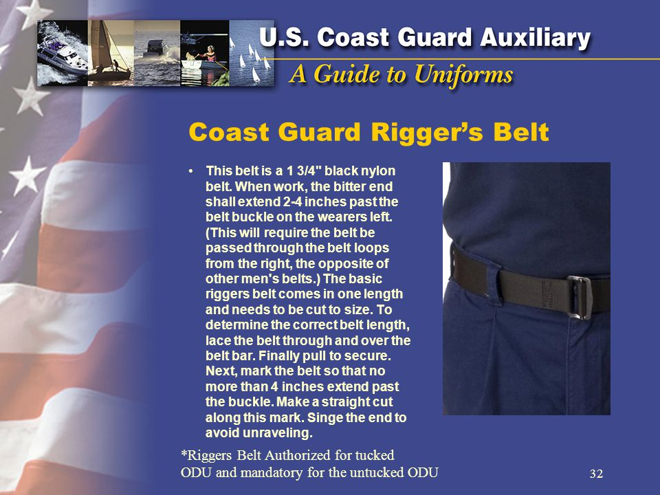 Coast Guard Rigger's Belt