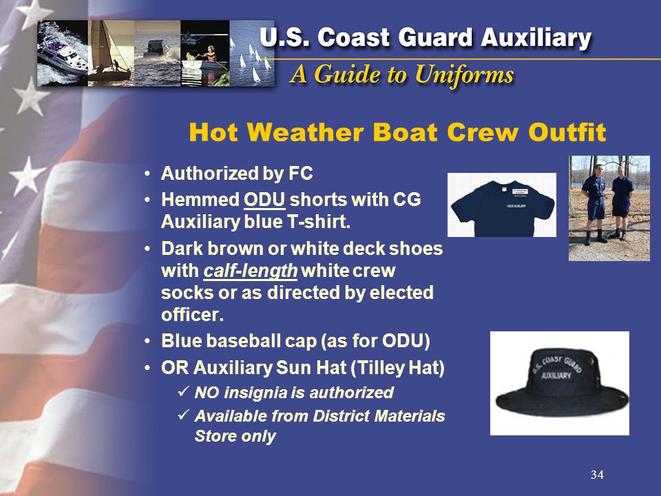 Hot Weather Boat Crew Outfit