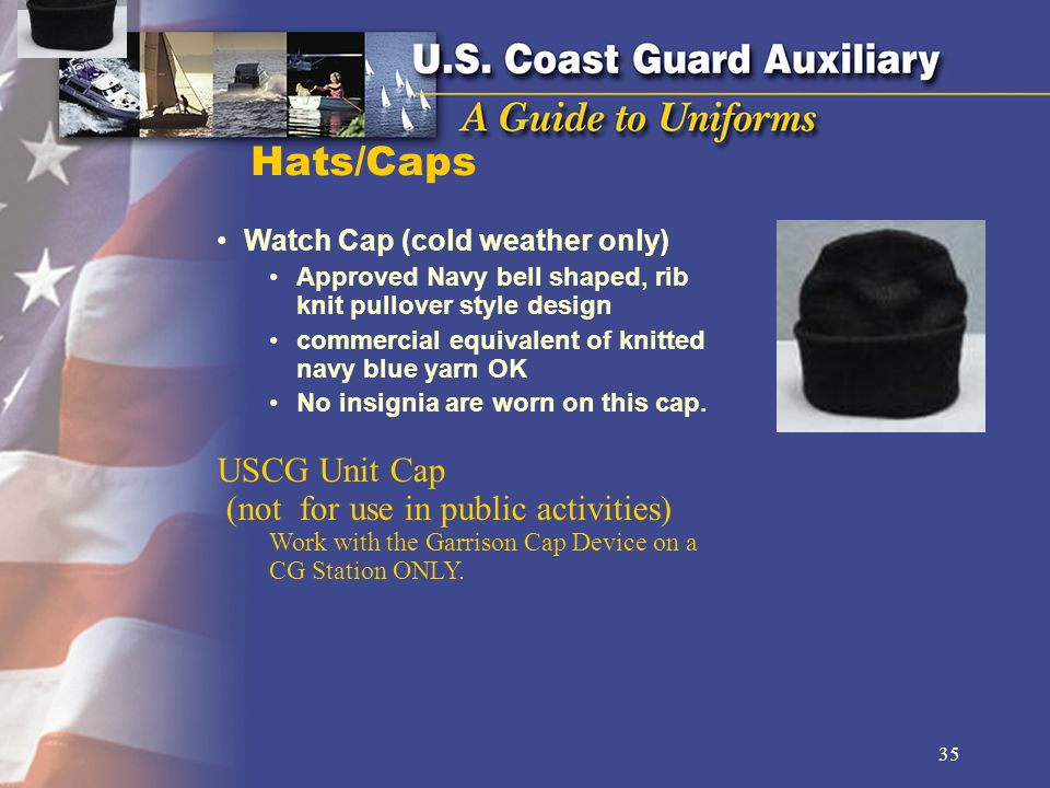 Hats/Caps USCG Unit Cap (not for use in public activities)