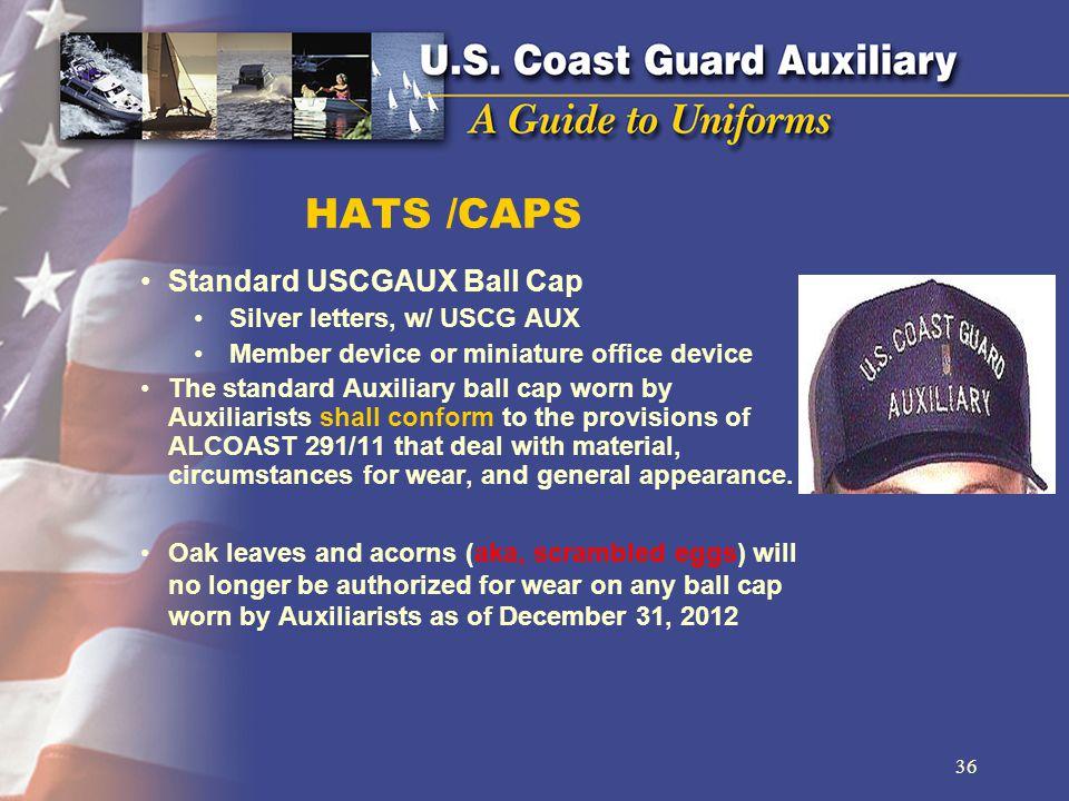HATS /CAPS Standard USCGAUX Ball Cap Silver letters, w/ USCG AUX