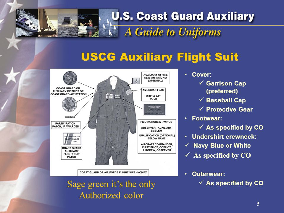 USCG Auxiliary Flight Suit