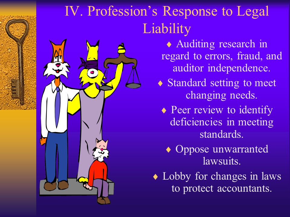 IV. Profession's Response to Legal Liability