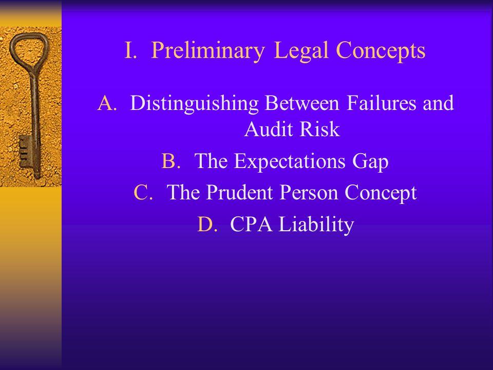 I. Preliminary Legal Concepts